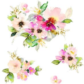 """18"""" Kalani Blooms - White"""