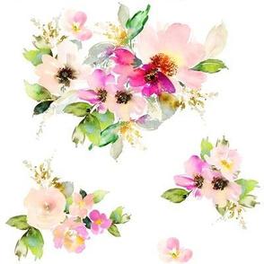 """8"""" Kalani Blooms - White"""