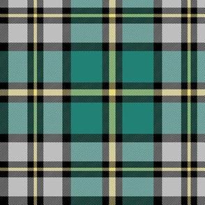 "Cape Breton tartan, 6"" teal"