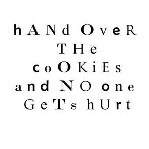 Ransom Note Mug Rug--Cookies