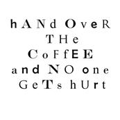 Ransom Note Mug Rug--Coffee