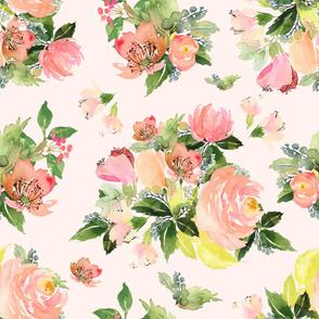 """8"""" Moonstone Blooms - Blush Pink"""