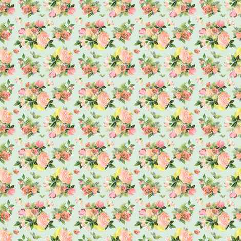 "2"" Moonstone Blooms - Green fabric by shopcabin on Spoonflower - custom fabric"