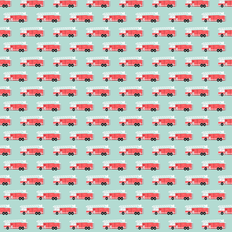 (micro print) fire truck fabric fabric by littlearrowdesign on Spoonflower - custom fabric