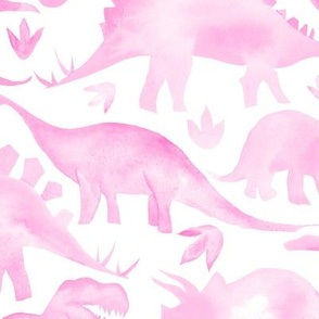 Pink Dinosaurs - larger scale