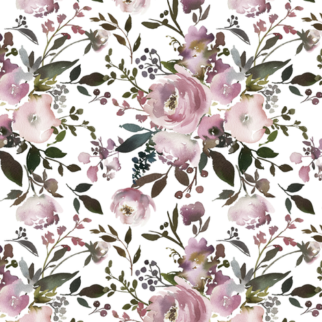 Vintage Pink Roses Floral Bouquet fabric by hipkiddesigns on Spoonflower - custom fabric