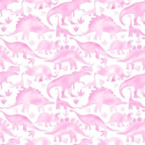 Pink Dinosaurs - smaller scale