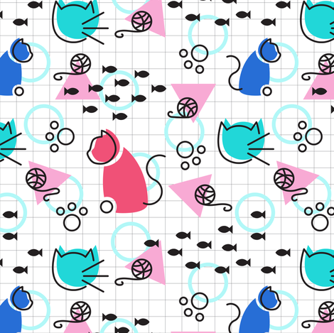Meowphis Classic fabric by robinskarbek on Spoonflower - custom fabric