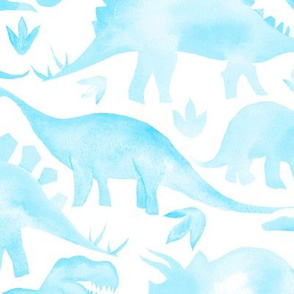 Blue Dinosaurs - larger scale