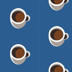 Cup Blue Background-ed