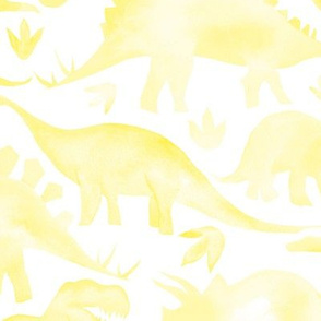 Yellow Dinosaurs - larger scale