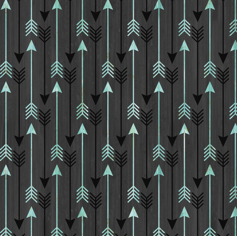 Arrows Dark Gray fabric by sarah_treu on Spoonflower - custom fabric