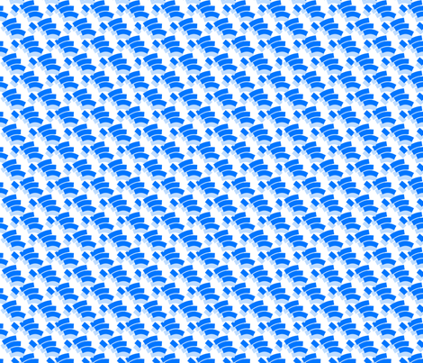 Geo Fingers Blue fabric by abbieuproot on Spoonflower - custom fabric
