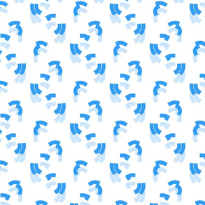 Inverted Commas Blue