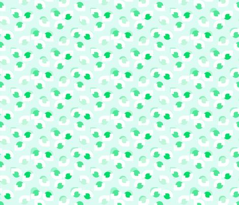 Leafy Eyes Green fabric by abbieuproot on Spoonflower - custom fabric