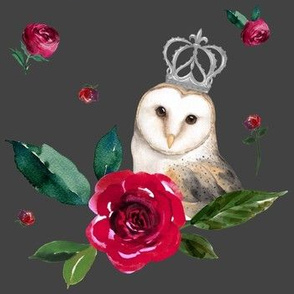 "7"" Winter Roses & Owl / Grey"