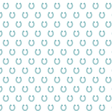 Horseshoes Blue on White fabric by sarah_treu on Spoonflower - custom fabric