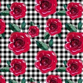 """4"""" Winter Roses & Plaid"""