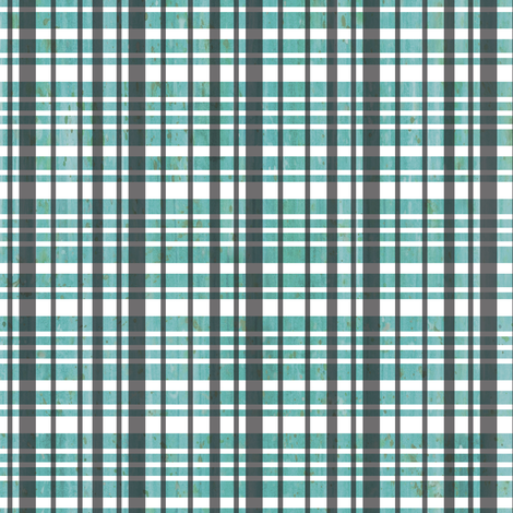 Light Teal Plaid fabric by sarah_treu on Spoonflower - custom fabric
