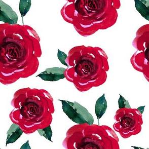 """8"""" Winter Roses / White"""