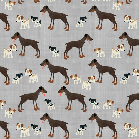 Dogs fabric by sarah_treu on Spoonflower - custom fabric