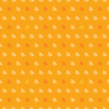 Sweet Bees - Orange Buzz fabric by picturewindow on Spoonflower - custom fabric