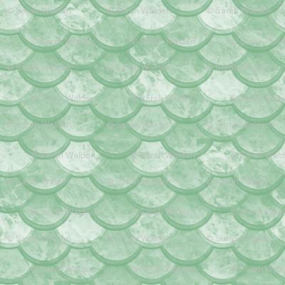 Watercolor Marble Scales ~ Jade