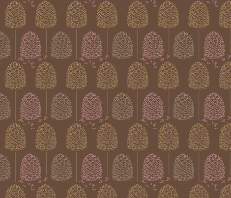 Forest creatures - Pine Cones fabric by picturewindow on Spoonflower - custom fabric