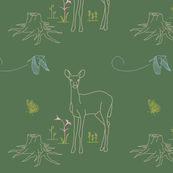Forest Creatures - Deer and Friends