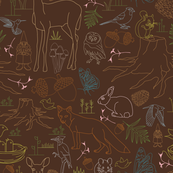 Forest Creatures - Flora and Fauna