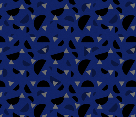 Rotary Dialling Confetti Dark Blue fabric by abbieuproot on Spoonflower - custom fabric
