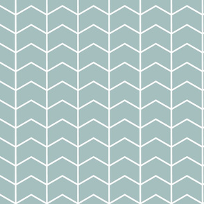 dusty blue chevron