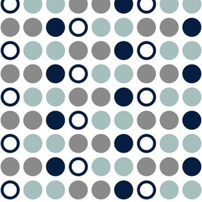 Polka Dots // Dusty blue and navy farm collection coordinate