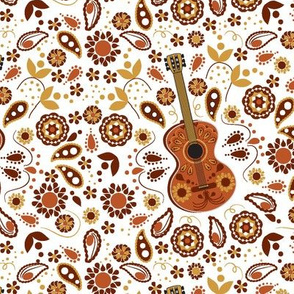 Serenade Me, Guitar, Bohemian, Paisley, Boho