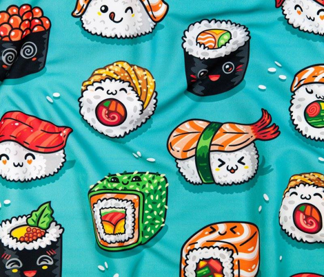 Cute kawaii sushi