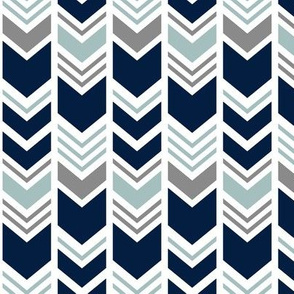 chevron - navy/dark grey/dusty blue