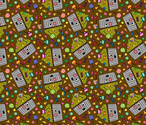 Zombie Cupcake Brown fabric by modgeek on Spoonflower - custom fabric