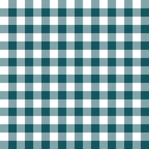 """1"""" Shaded Spruce Gingham"""