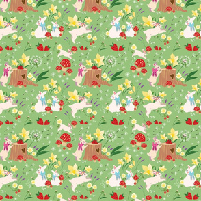 Spring Bunnies by Annie Henderson