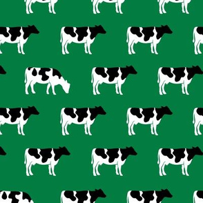 cows on green - farm fabric