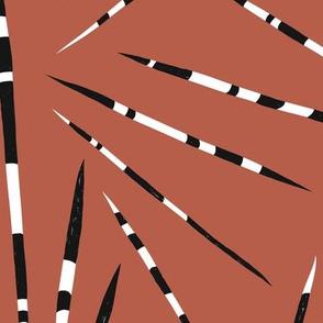 Porcupine Quills - African Print - Autumn