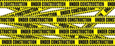 1 under construction barricade notice warning danger hazard barrier police firefighter tape diagonal stripes life sized pop art novelty
