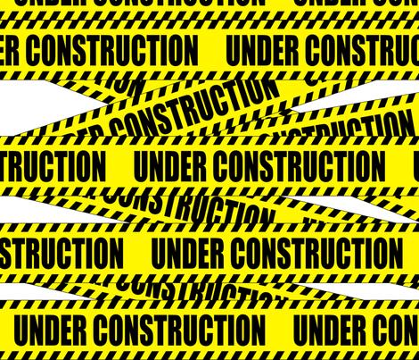 1 under construction barricade notice warning danger hazard barrier police firefighter tape diagonal stripes life sized pop art novelty fabric by raveneve on Spoonflower - custom fabric