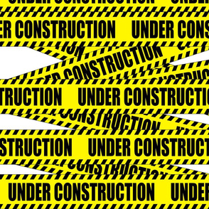 1 under construction barricade notice warning danger hazard barrier police firefighter tape diagonal stripes life sized pop art novelty