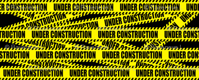 2 under construction barricade notice warning danger hazard barrier police firefighter tape diagonal stripes life sized pop art novelty