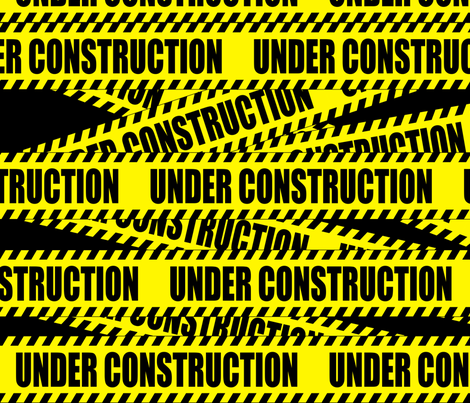 2 under construction barricade notice warning danger hazard barrier police firefighter tape diagonal stripes life sized pop art novelty  fabric by raveneve on Spoonflower - custom fabric