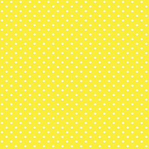 White polka dots on yellow