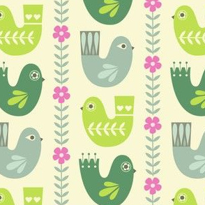 scandi birds on cream