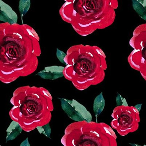 "8"" Winter Roses /  Black"
