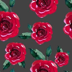 "8"" Winter Roses / Grey"